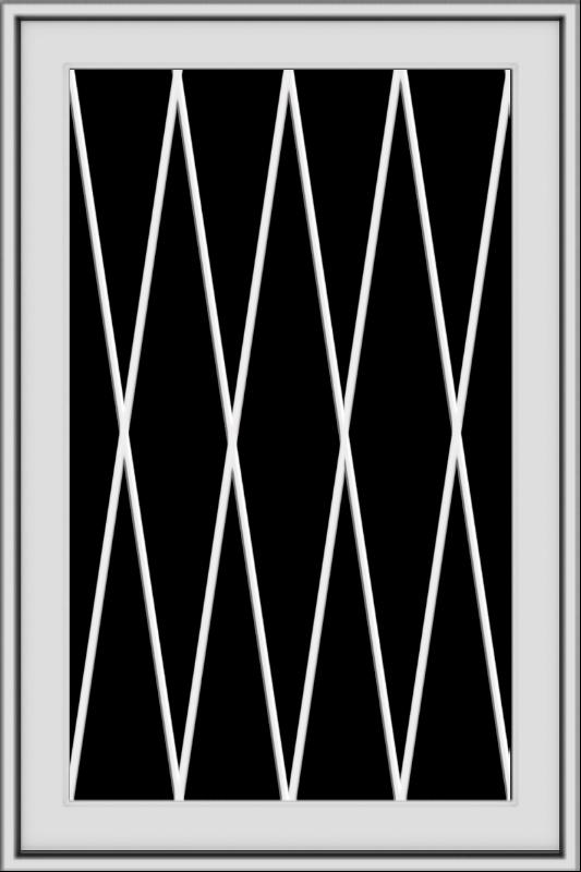 WDMA 24x36 (23.5 x 35.5 inch) black uPVC/Vinyl Push out Awning Window with Diamond Grids Interior