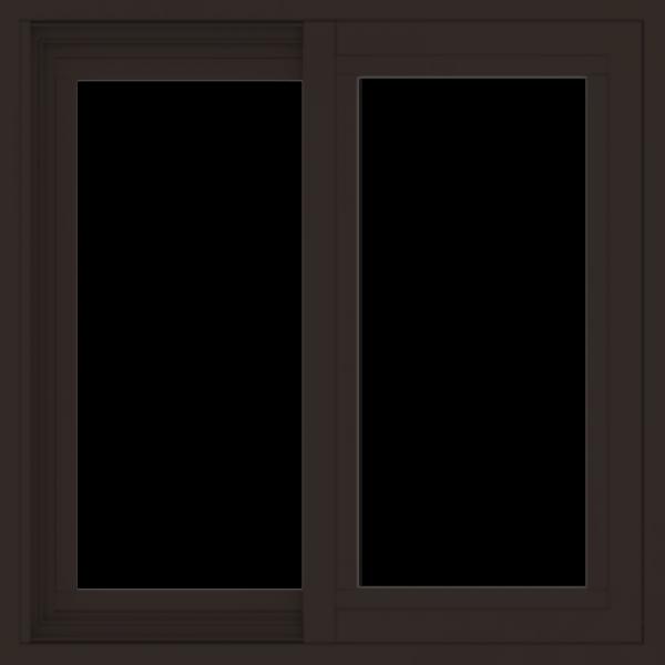 WDMA 24x24 (23.5 x 23.5 inch) Dark Bronze Aluminum Slide Window without grids exterior