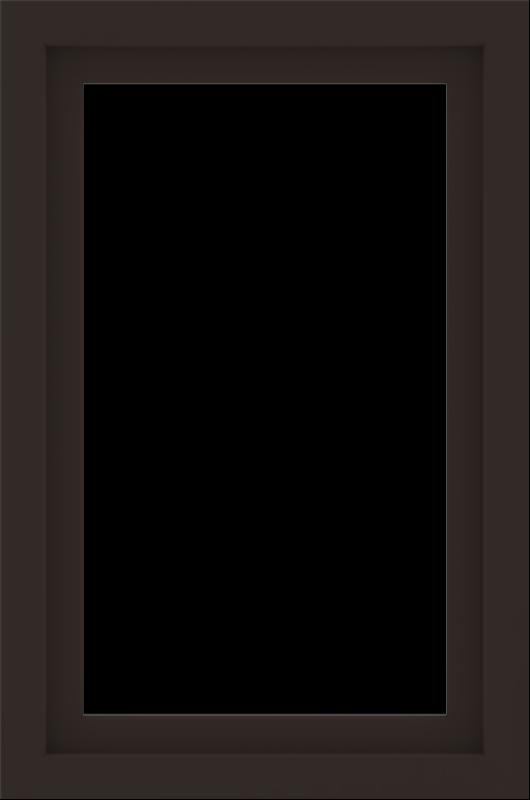 WDMA 24x36 (23.5 x 35.5 inch) Dark Bronze aluminum Picture Window without Grids Interior