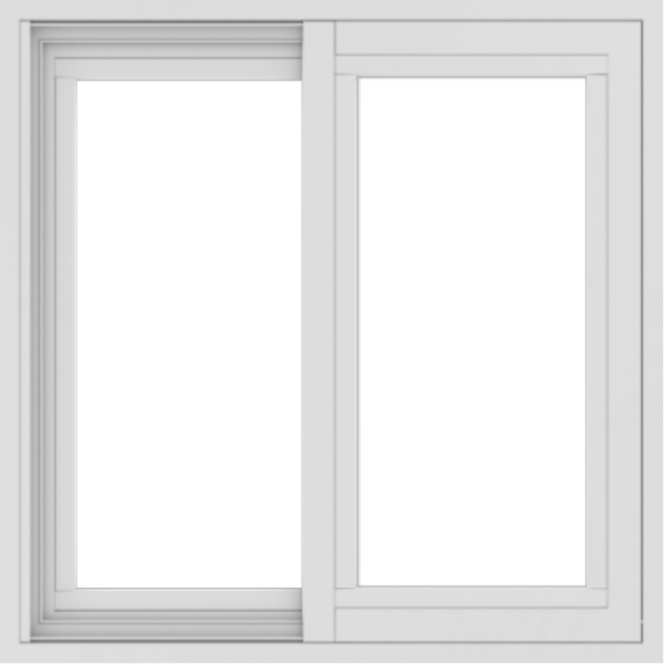 WDMA 24x24 (23.5 x 23.5 inch) White Aluminum Slide Window without grids exterior