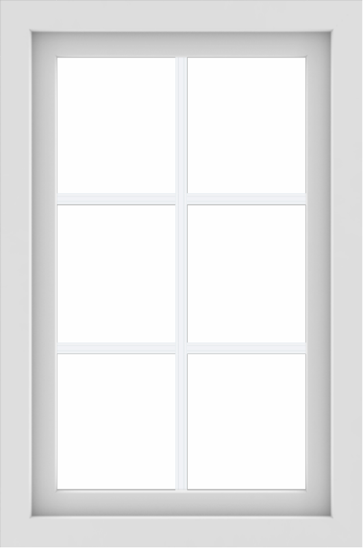 WDMA 24x36 (23.5 x 35.5 inch) black uPVC/Vinyl Picture Window with Colonial Grilles Interior