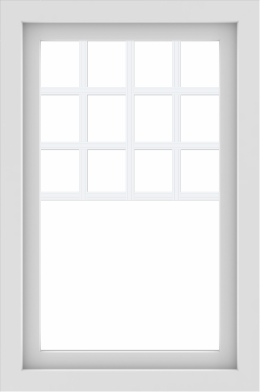 WDMA 24x36 (23.5 x 35.5 inch) White aluminum Picture Window with Top Colonial Grids