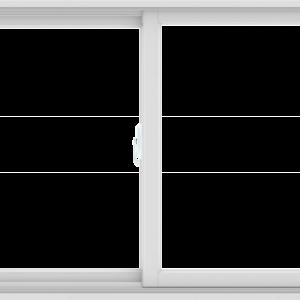 WDMA 48X36 (47.5 x 35.5 inch) White uPVC/Vinyl Sliding Window without Grids Interior