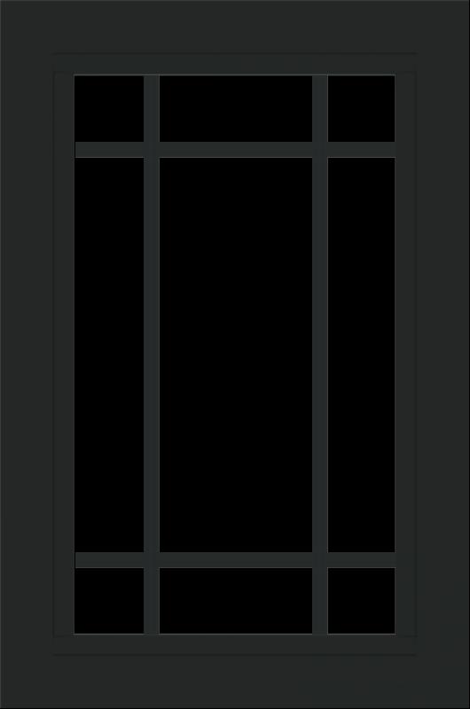 WDMA 24x36 (23.5 x 35.5 inch) black uPVC/Vinyl Picture Window with Prairie Grilles Interior