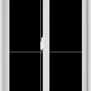 WDMA 36X48 (35.5 x 47.5 inch) White uPVC/Vinyl Sliding Window without Grids Interior