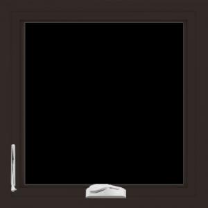 WDMA 24x24 (23.5 x 23.5 inch) Dark Bronze Aluminum Crank out Casement Window without Grids