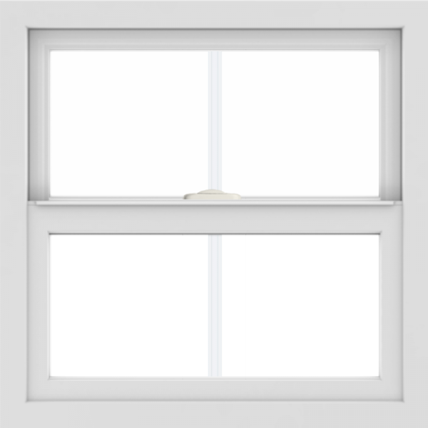 WDMA 24x24 (23.5 x 23.5 inch) White uPVC/Vinyl Single and Double Hung Window with Colonial Grilles