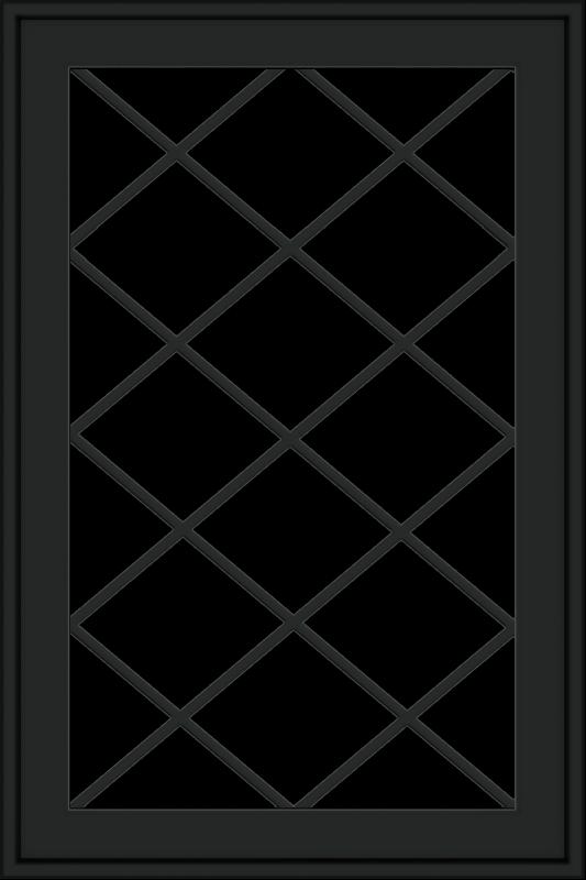 WDMA 24x36 (23.5 x 35.6 inch) black uPVC/Vinyl Push out Awning Window with Diamond Grids Exterior