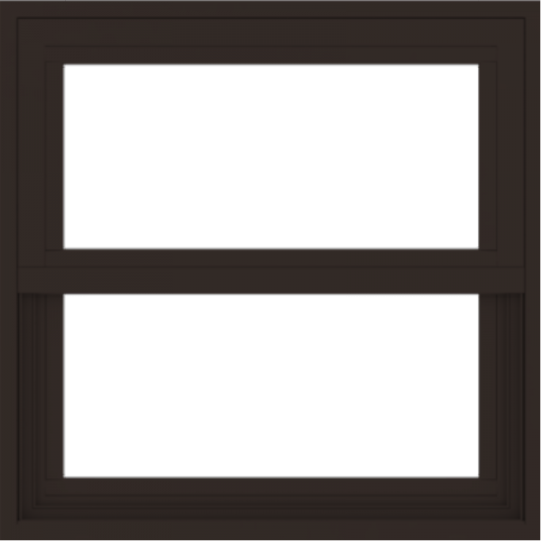 WDMA 24x24 (23.5 x 23.5 inch) Dark Bronze Aluminum Single and Double Hung Window without grids exterior