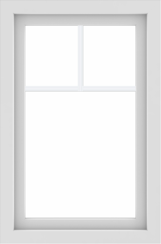 WDMA 24x36 (23.5 x 35.5 inch) White aluminum Picture Window with Fractional Grilles