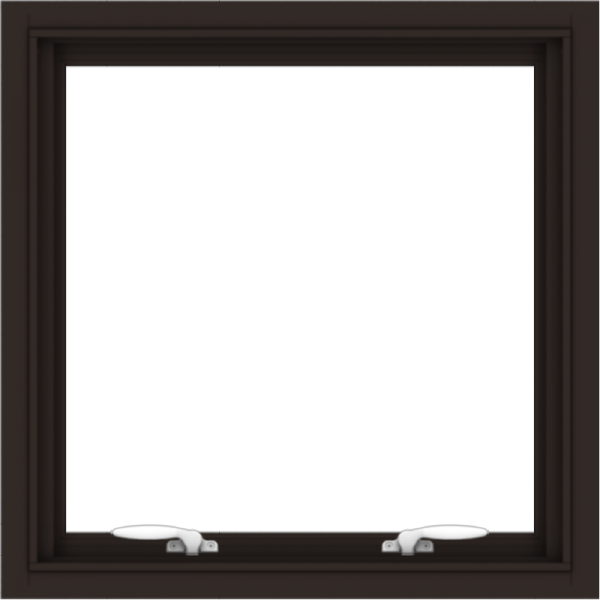 WDMA 24x24 (23.5 x 23.5 inch) Dark Bronze Aluminum Push out Awning Window without Grids Interior