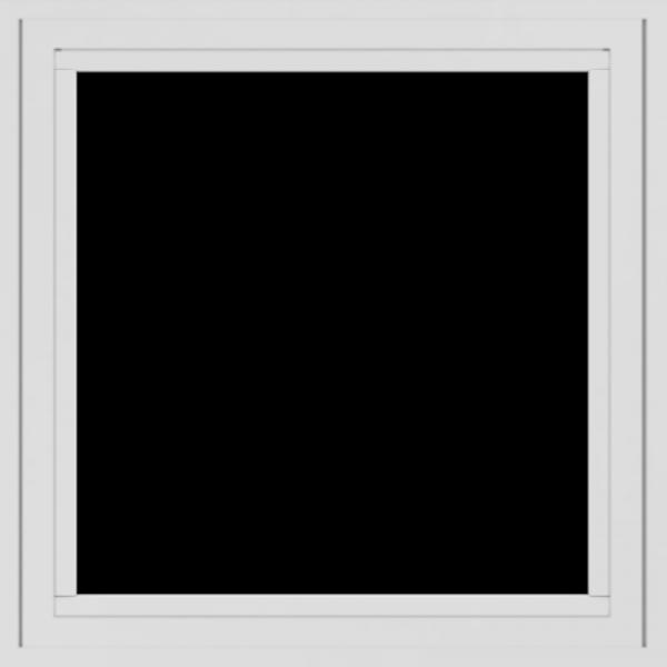 WDMA 24x24 (23.5 x 23.5 inch) White Aluminum Crank out Casement Window without grids exterior