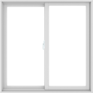 WDMA 48X48 (47.5 x 47.5 inch) White uPVC/Vinyl Sliding Window without Grids Interior