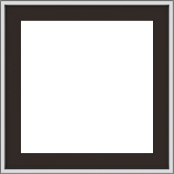 WDMA 24x24 (23.5 x 23.5 inch) Dark Bronze Aluminum Push out Awning Window without grids exterior