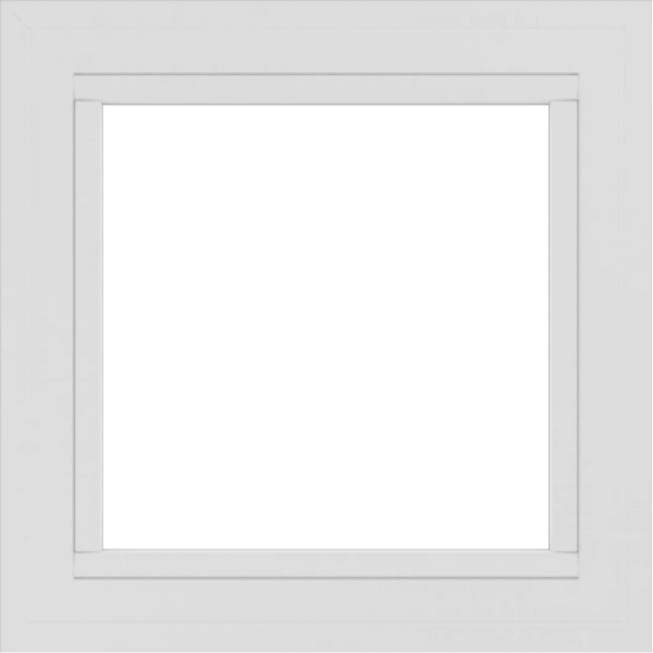 WDMA 24x24 (23.5 x 23.5 inch) White Aluminum Picture Window without grids exterior