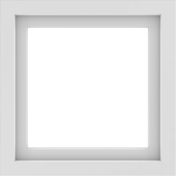 WDMA 24x24 (23.5 x 23.5 inch) White Aluminum Picture Window without Grids Interior