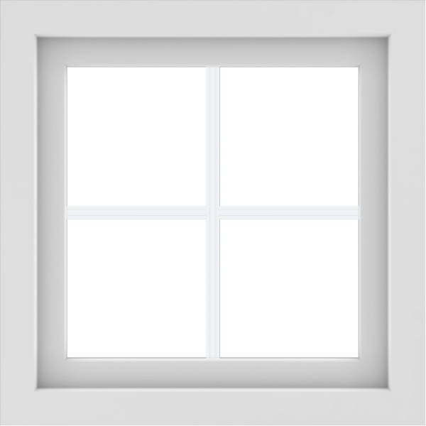 WDMA 24x24 (23.5 x 23.5 inch) White Aluminum Picture Window with Colonial Grilles