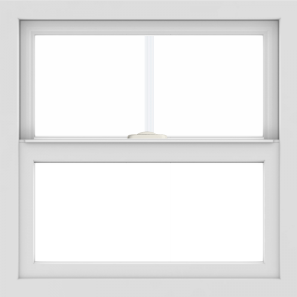 WDMA 24x24 (23.5 x 23.5 inch) White uPVC/Vinyl Single and Double Hung Window with Fractional Grilles