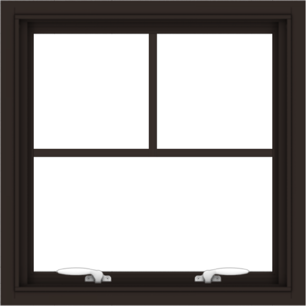 WDMA 24x24 (23.5 x 23.5 inch) Dark Bronze Aluminum Push out Awning Window with Fractional Grilles
