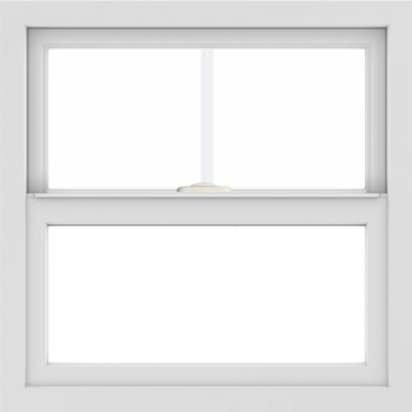 WDMA 24x24 (23.5 x 23.5 inch) White uPVC/Vinyl Single and Double Hung Window with Top Colonial Grids