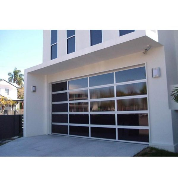 China WDMA 12 X 7 Residential Automatic Aluminum Roll Up Garage Door With Clear Acrylic Glass Plastic Window Inserts
