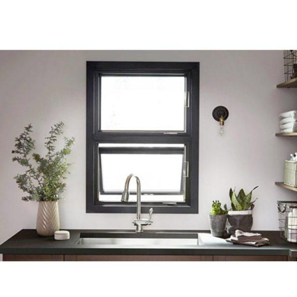 China WDMA 60 X 60 Aluminum Awning Stained Glass Windows