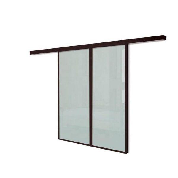 WDMA 8 Ft Aluminium Hanging Barn Sliding Glass Door System Interior Room Divider For Dining Room Living Room Design Price