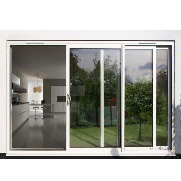 WDMA Aama Fancy 96 X 80 Balcony 3-track Powder Coated Aluminium Glass Sliding Patio Door