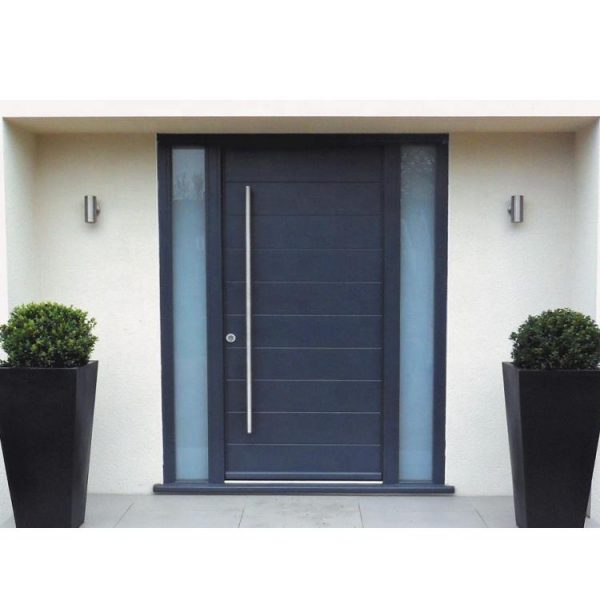 WDMA Acoustical Airtight 3 Panel French Aluminium Swing Glass Entry Door With Sidelight Mechanism For Exterior External Price