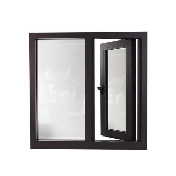 WDMA Affordable Tempered Smart Glass Aluminum Frame Casment Windows