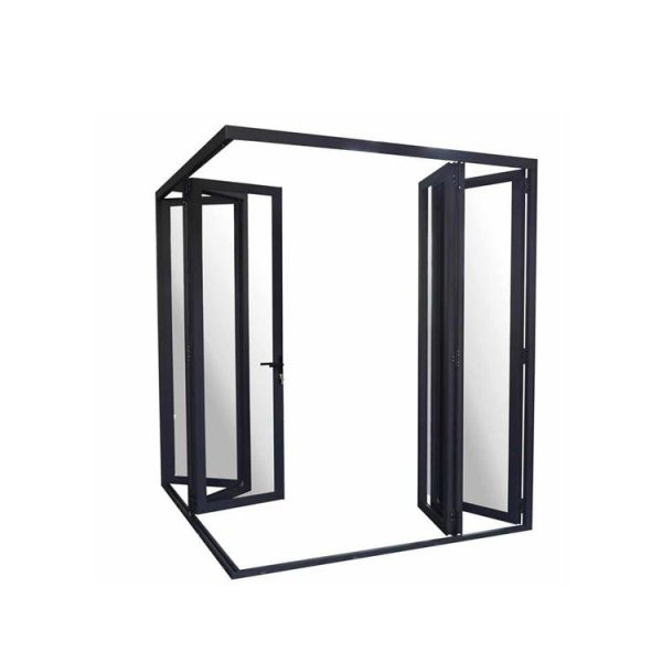 China WDMA Aluminium Alloy Fashion Design Florida Approval Unbreakable Glass Folding Door With Mosquito Nets