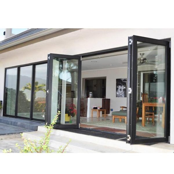 WDMA Aluminium Alloy New Style Noa Code Bulletproof Fire Rated Frosted Glass Accordion Door