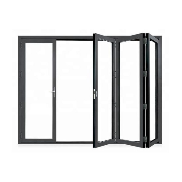 China WDMA Aluminium Alloy New Style Noa Code Bulletproof Fire Rated Frosted Glass Accordion Door