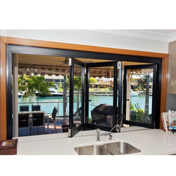China WDMA Aluminium Bi-Folding Window Double Glazed Collapsible Window Home Luxury Window Balcony