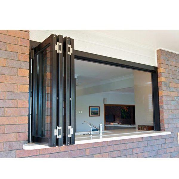 China WDMA aluminium bi-folding window Aluminum Folding Window