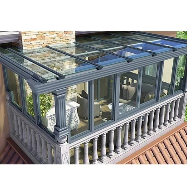 China WDMA Aluminium Glass Sunroom For Solarium