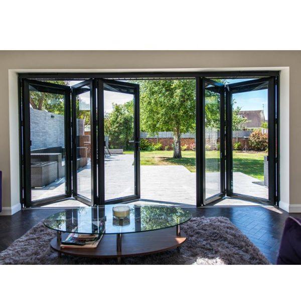 China WDMA Aluminium Glass Folding Doors
