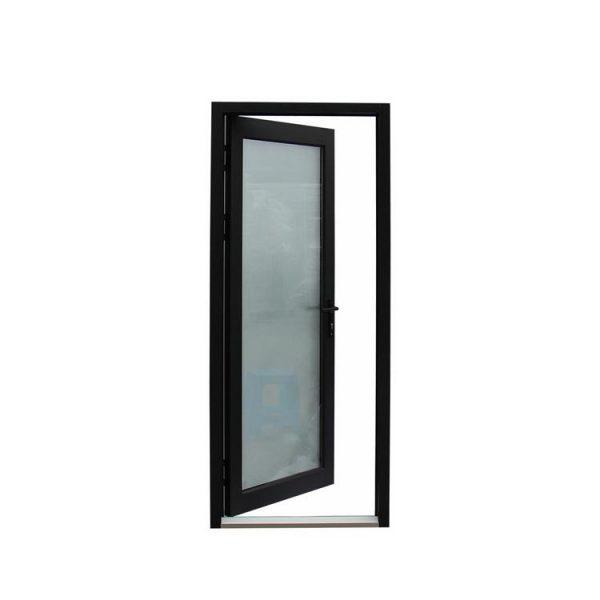 WDMA Aluminium Interior Frosted Tempered Glass Interior Swing Door For Bathroom Entry Design Price India