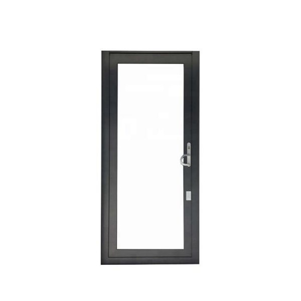 China WDMA Aluminium Interior Frosted Tempered Glass Interior Swing Door For Bathroom Entry Design Price India