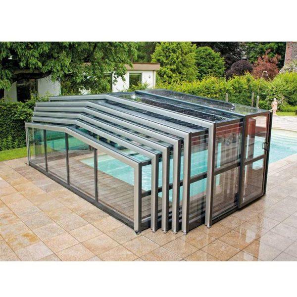 China WDMA Aluminium Retractable Swimming Pool Covers Retractable Swimming High Pool Enclosures