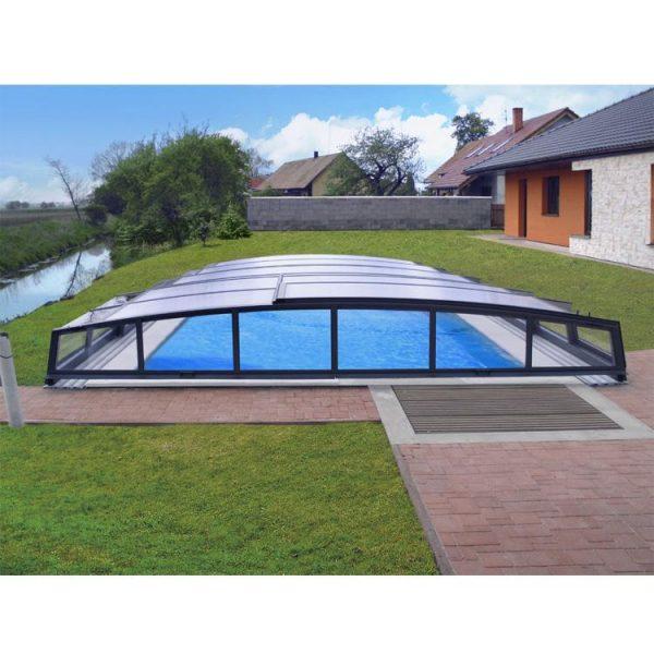 China WDMA aluminium retractable swimming pool covers Aluminum Sunroom