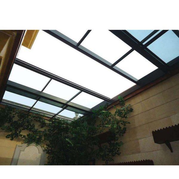 China WDMA Aluminium Shatterproof And Hurricane Proof Sliding Roof Skylight Window For House Balcony Price List