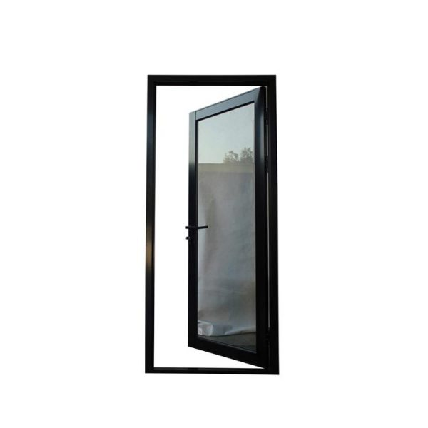 China WDMA Aluminium Slide Single Swing Door With Frosted Glass Price For Balcony