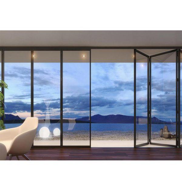 China WDMA Aluminium Soundproof Balcony Bifold Door