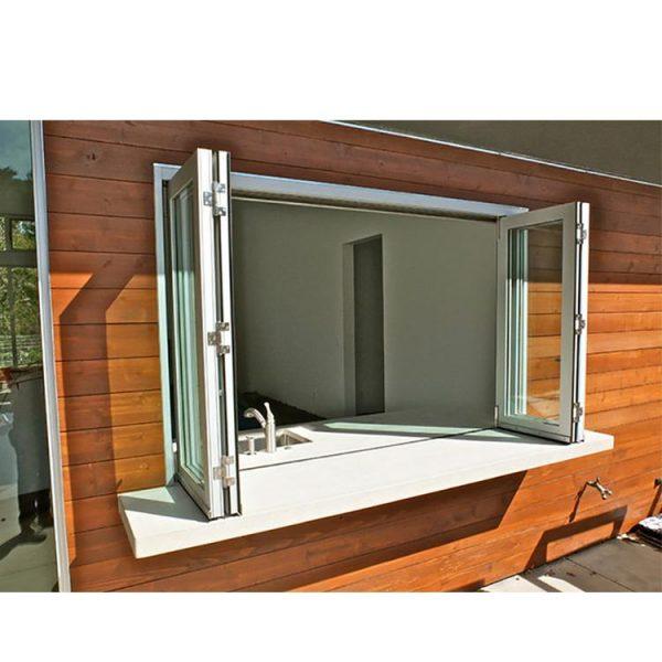 WDMA Aluminium Thermal Break Frame Tempered Glass Accordion Bi-fold Window With Mosquito Net For Balcony Design