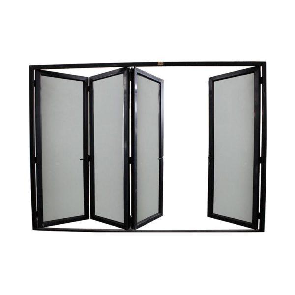 WDMA Aluminum Alloy Door Laminated Glass Accordion Doors Bathroom