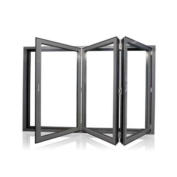 WDMA Aluminum aluminum Space-saving Double Glazed Folding Doors Windows
