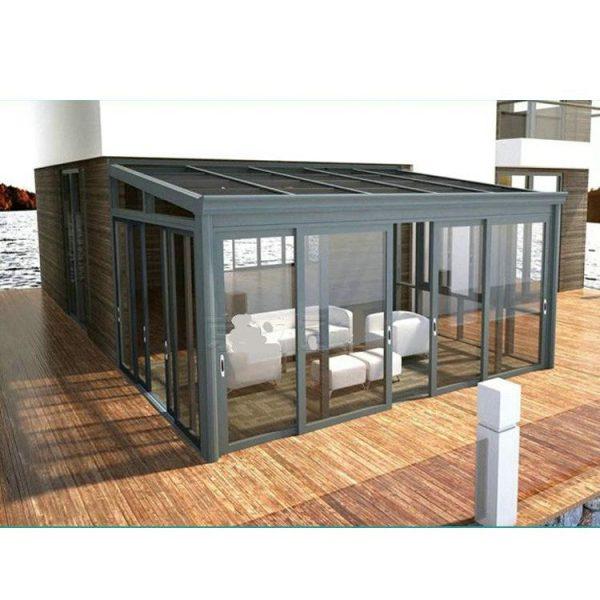 WDMA flat roof sunroom glass sunroom