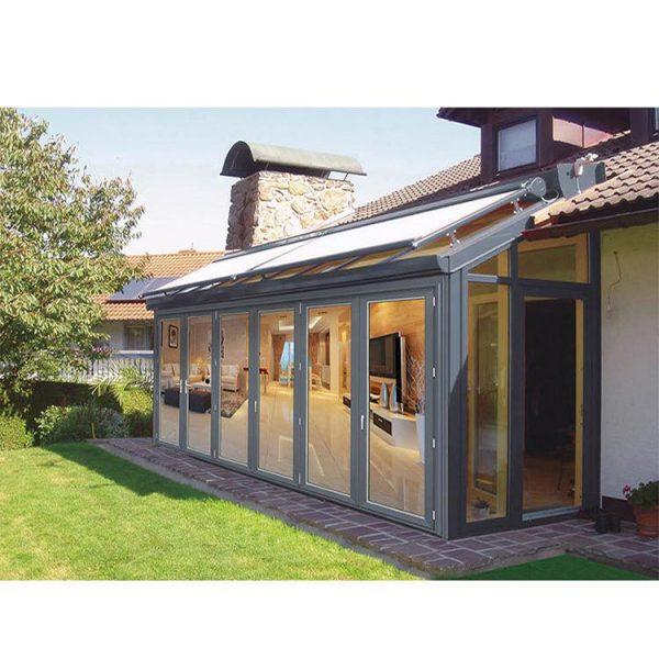WDMA flat roof sunroom glass sunroom Aluminum Sunroom
