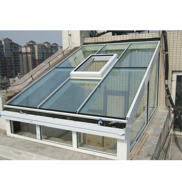 China WDMA flat roof sunroom glass sunroom